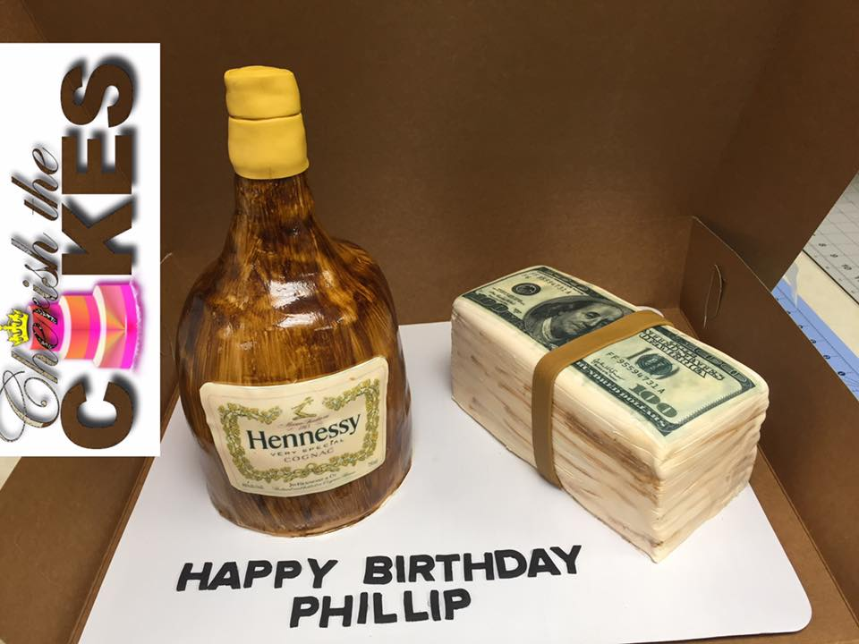 Hennessy Hustlers Bottle Cake Cherish The Cakes
