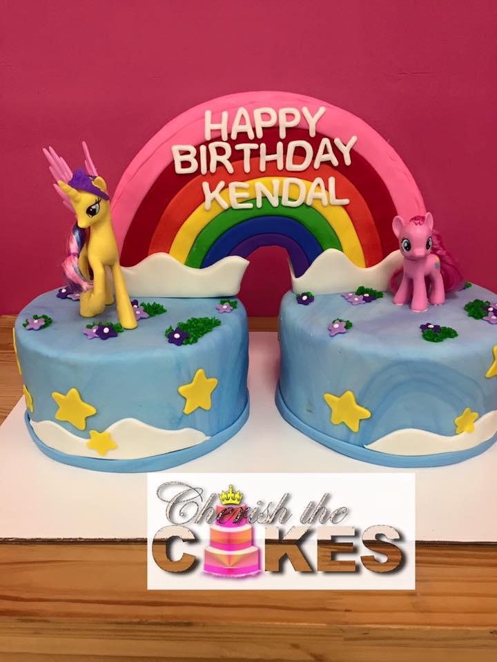 My Little Pony Rainbow Bridge Cake