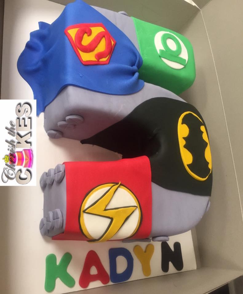 Superhero Age Theme Birthday Cake – Cherish the Cakes