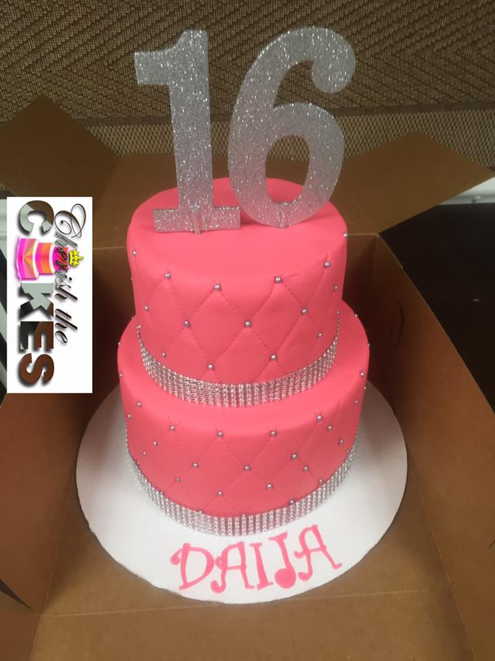 Sweet 16 Perfect Bling Cake 2 Tier