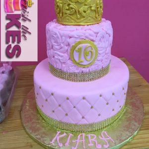 Flower Bling Princess Cake