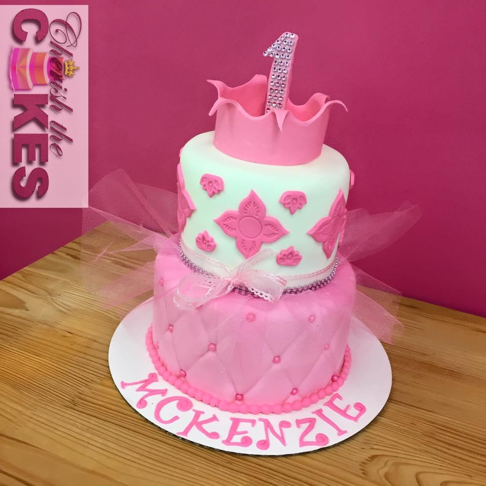 Ballerina Pearls Princess Cake