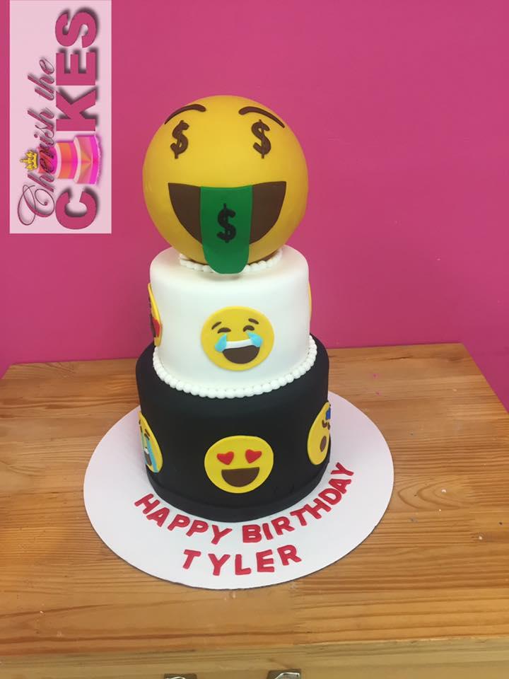 Emoji Theme Cake Cherish The Cakes