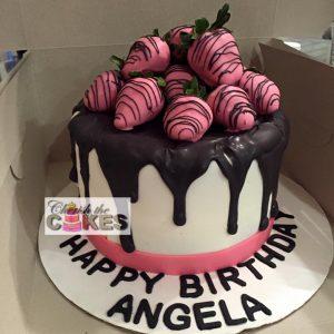 Chocolate Covered Strawberry Birthday Cake