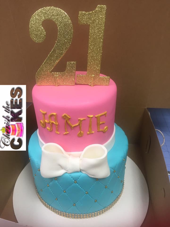 Birthday cake bow