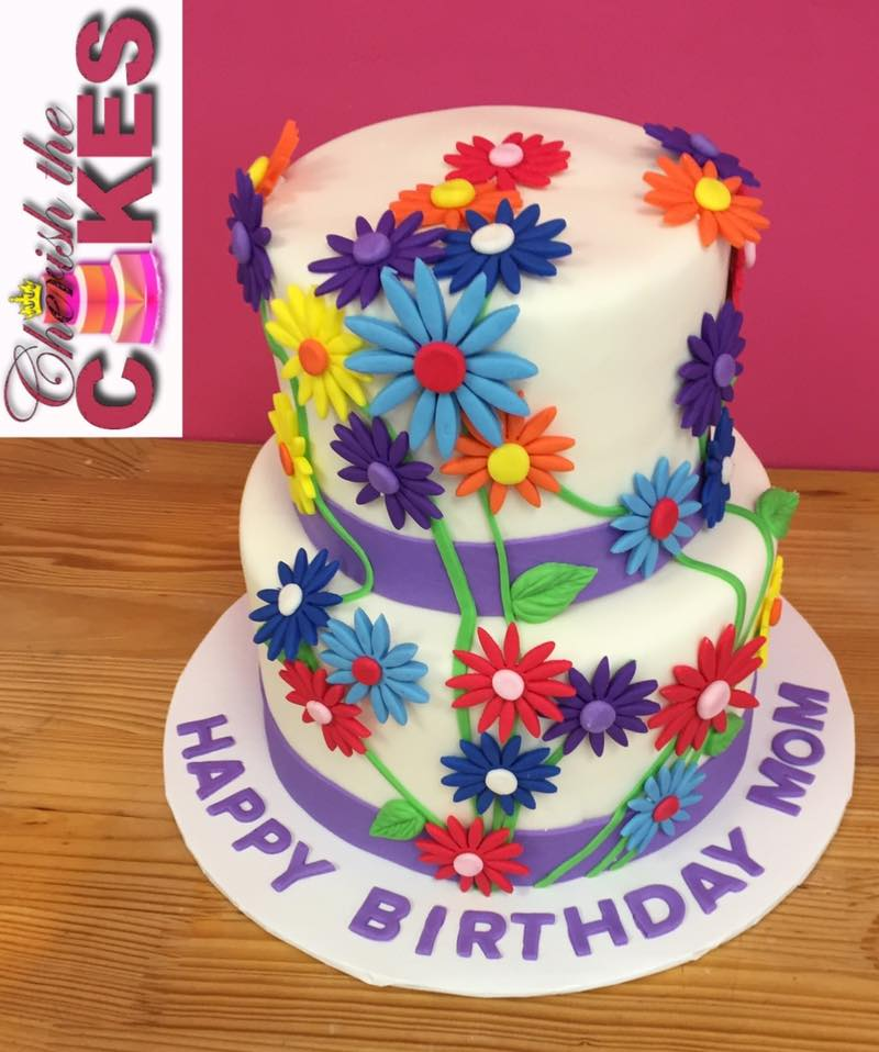 Girls Birthday Cake Flower Party Theme