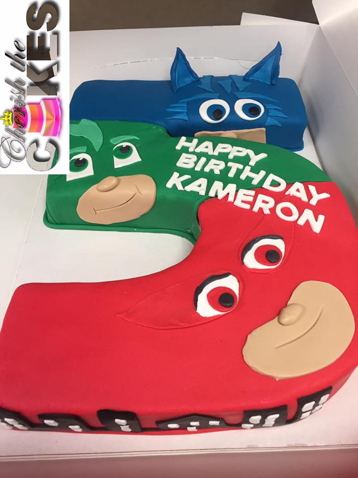 PJ Mask Party Cake